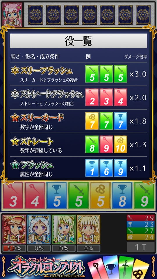 タロットポーカー オラクルコンフリクト ゲーム画面5