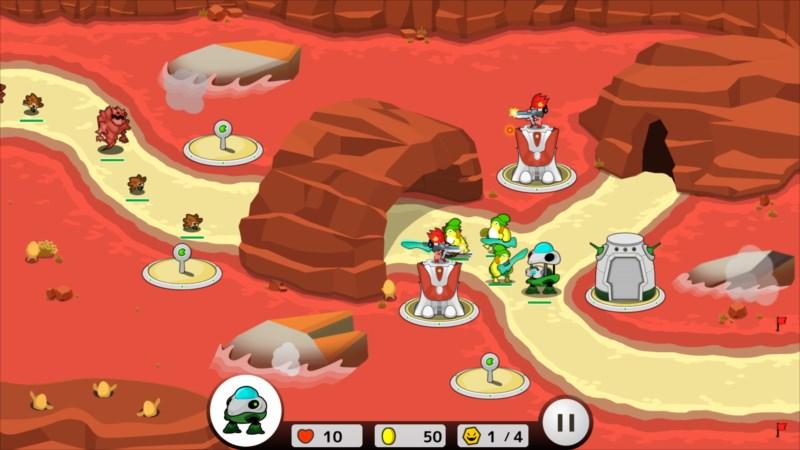 フロッディ タワーディフェンス ゲーム画面2