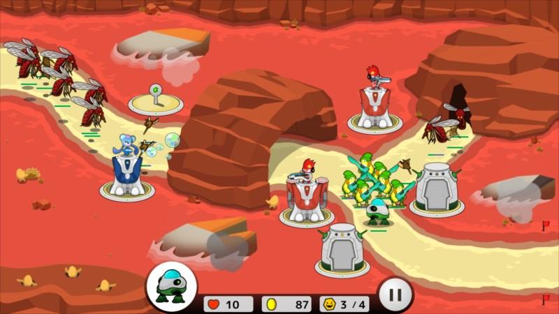 フロッディ タワーディフェンス ゲーム画面3