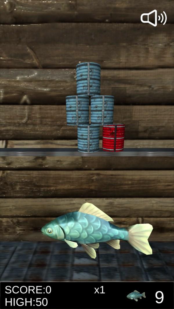 サバ缶シュート ゲーム画面2