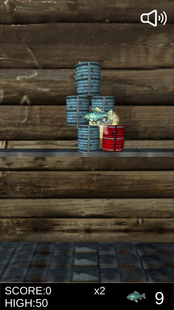 サバ缶シュート ゲーム画面3