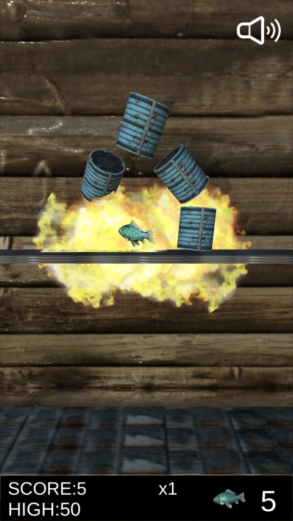 サバ缶シュート ゲーム画面4