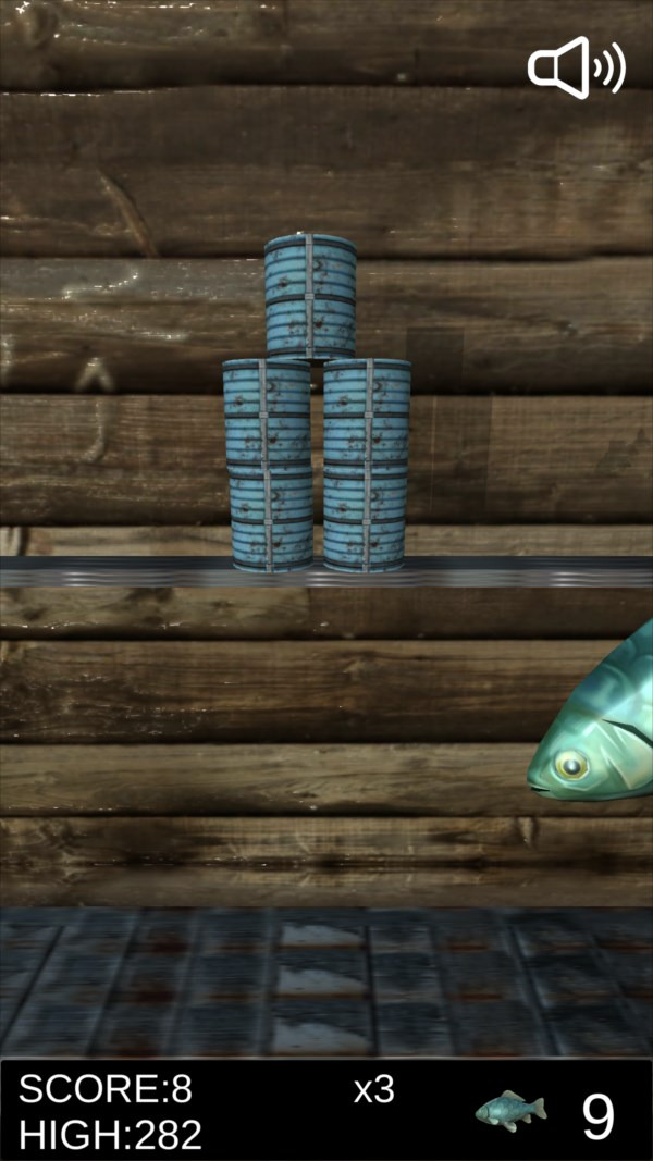 サバ缶シュート ゲーム画面8