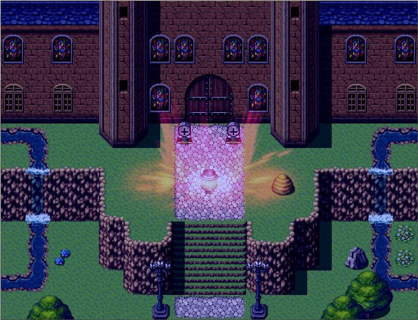 奈落の魔女とロッカの果実 ゲーム画面1